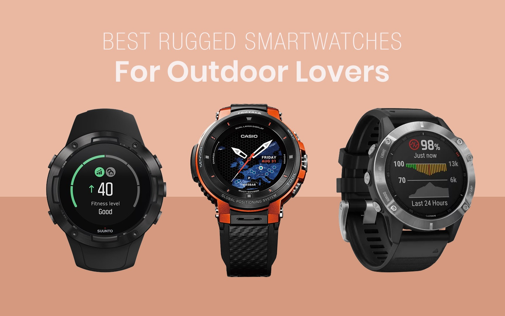 Best Rugged Smartwatches For Outdoor Lovers