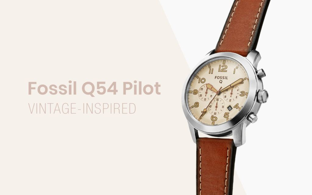 Fossil Shows Off Vintage-inspired Q54 Pilot Smartwatch at CES