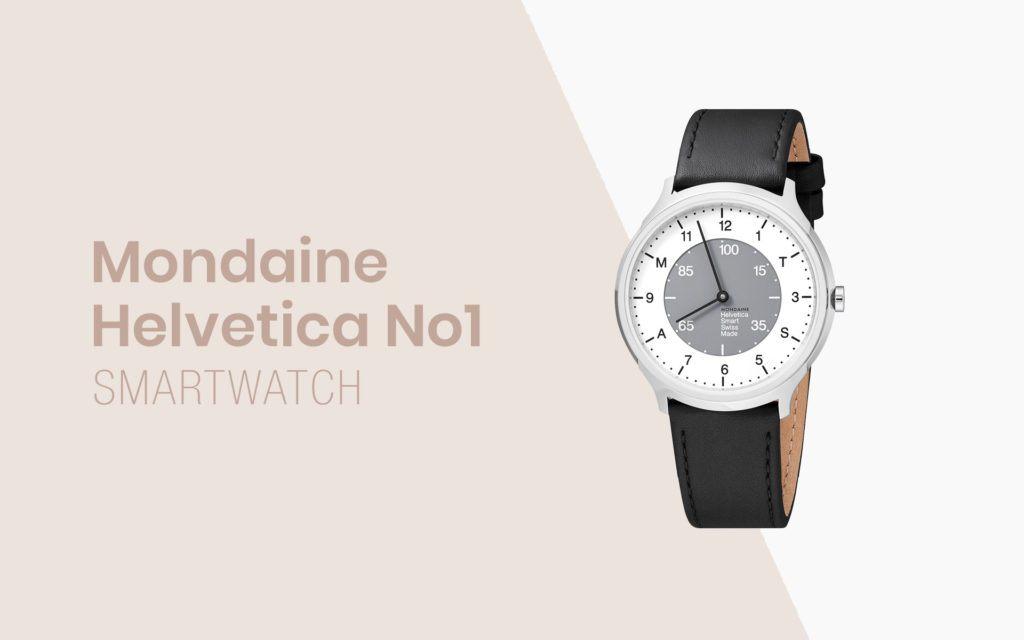 Mondaine Goes Smart with the Helvetica Regular No.1 Smartwatch