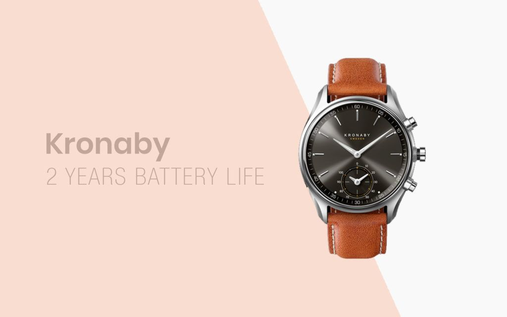 Kronaby Smartwatch has a TWO-YEAR Battery Life